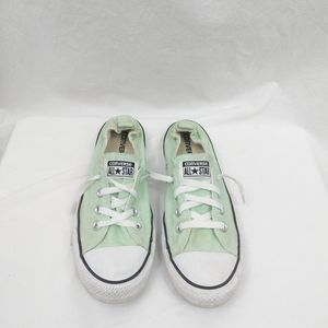 Converse Green & White Canvas Low Top Sneakers 10